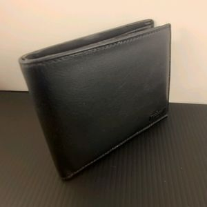 Tumi wallet with ID flap-Black leather